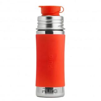 Pura nerezová fľaša so športovým uzáverom 325ml - PURA Oranžová