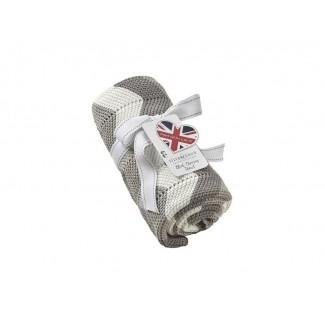 Silvercloud - pletená deka 70x90