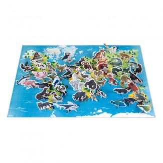 Janod Vzdelávacie puzzle Ohrozené zvieratká 200 ks
