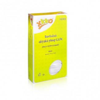 XKKO LUX vysokogramážne bavlnené plienky 70x70 biele - 10ks