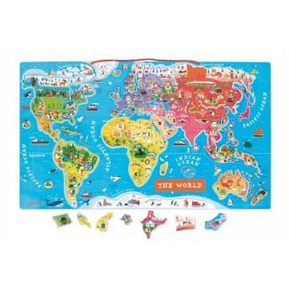 Janod Magnetická mapa sveta EN verzia