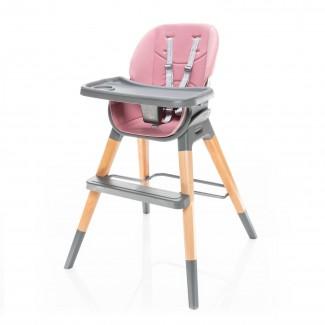 Stolička na kŕmenie NUVIO - ZOPA Blush Pink
