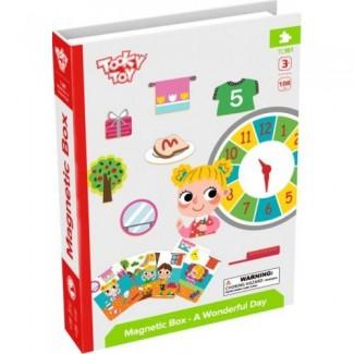 Tooky Toys - magnetická kniha Môj úžasný deň