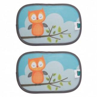 Slnečná clona do auta zvieratka 2 ks - ZOPA Owl
