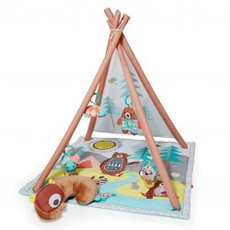 Deka na hranie 4 hračky, vankúšik Camping Cubs 0m+ - SKIP HOP