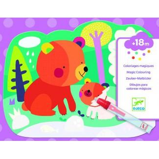 Djeco - Magické vyfarbovanie: Ukrytí v lese