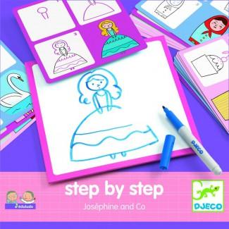 Djeco - Eduludo Kreslenie krok za krokom Princezničky