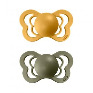 BIBS Couture ortodontické cumlíky z prírodného kaučuku 2ks – veľkosť 2 - BIBS