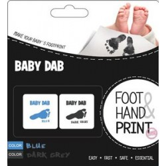 BABY DAB Farba na detské odtlačky 2ks modrá, šedá