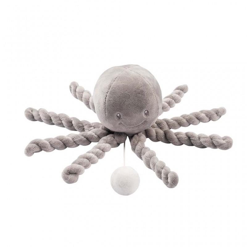 Prvá hrajúca hračka pre bábätka chobotnička PIU PIU Lapidou - NATTOU