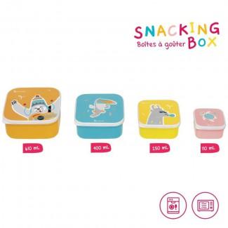 Desiatové misky Snacking box 4ks - Badabulle