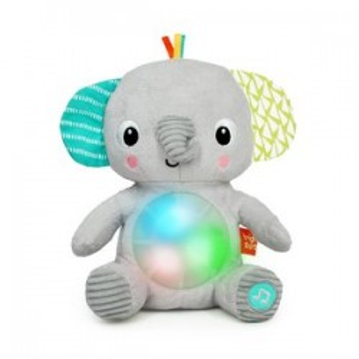 Hračka plyšová hudobná svietiaca Hug-a-bye Baby™ sloník 0m+ - BRIGHT STARTS